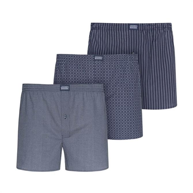 Jockey Everyday Navy Woven Boxer 3-Pack