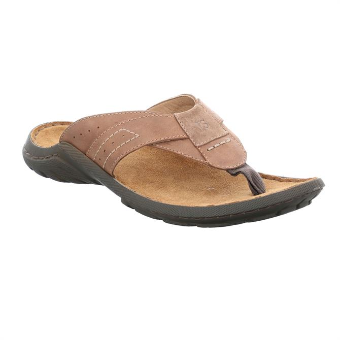 Josef Seibel Logan 62 Brown Leather Sandals