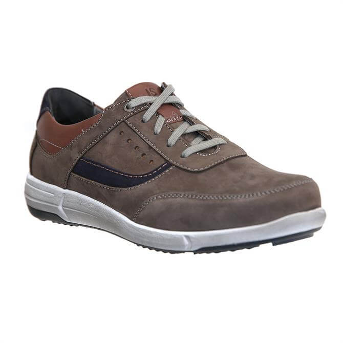 Josef Seibel Enrico 05 Grey Leather Trainers