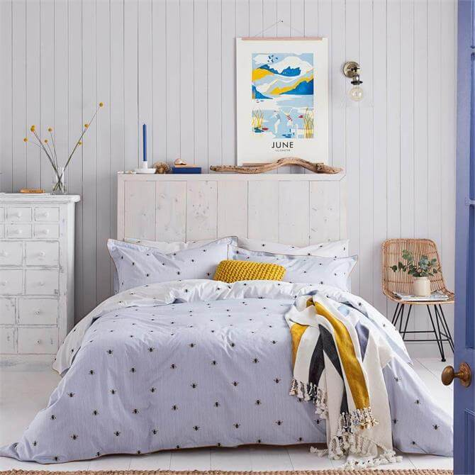 Joules Botanical Bees Blue Duvet Cover