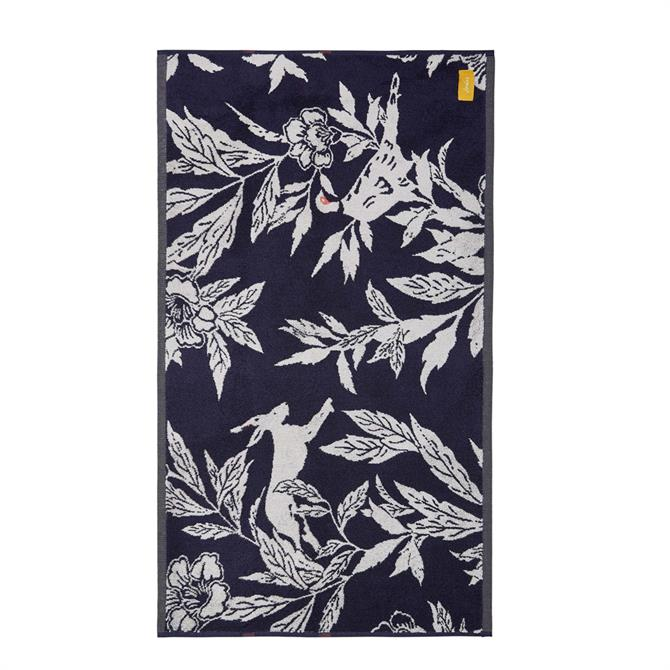Joules Country Critters Navy Bath Mat