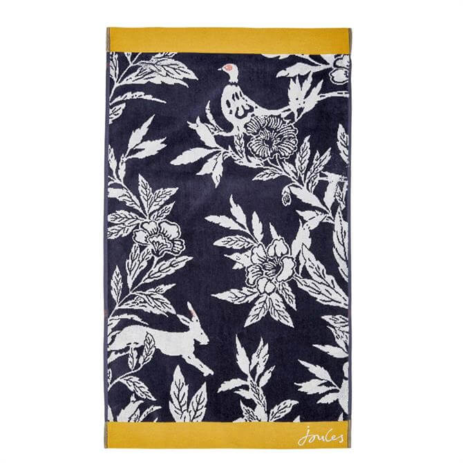 Joules Country Critters Navy Towel