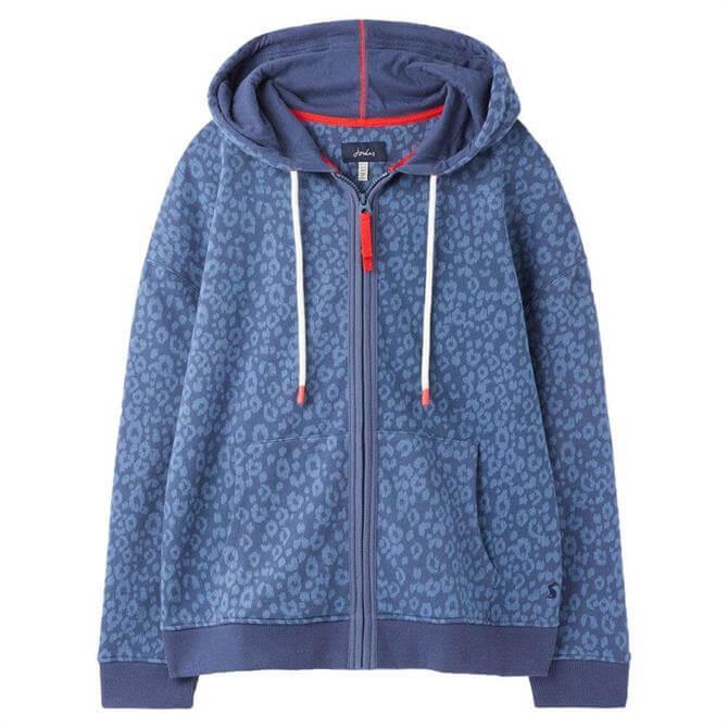 Joules Oakham Animal Print Zip Through Sweatshirt
