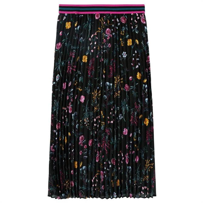 Joules Remi Pleated Floral Skirt