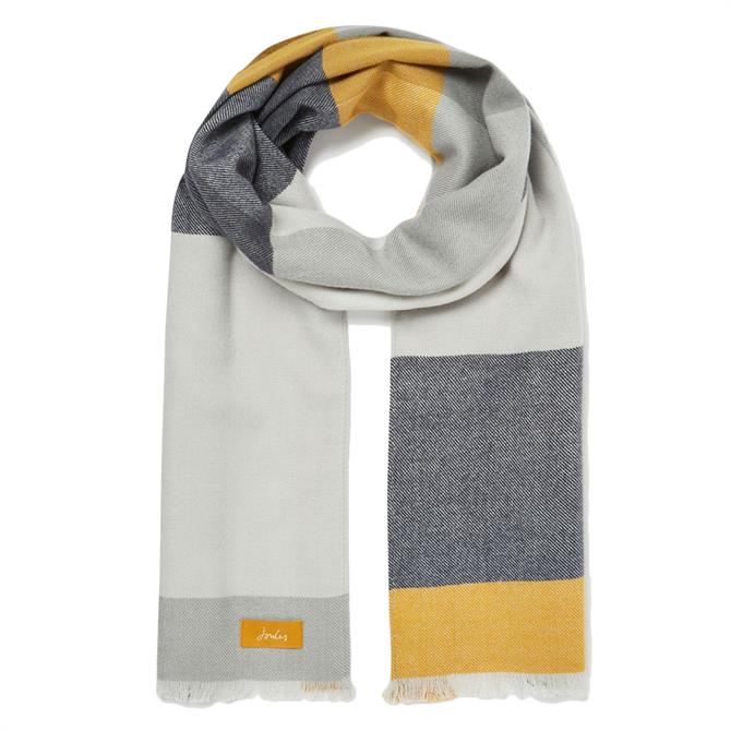 Joules Birdey Checked Scarf