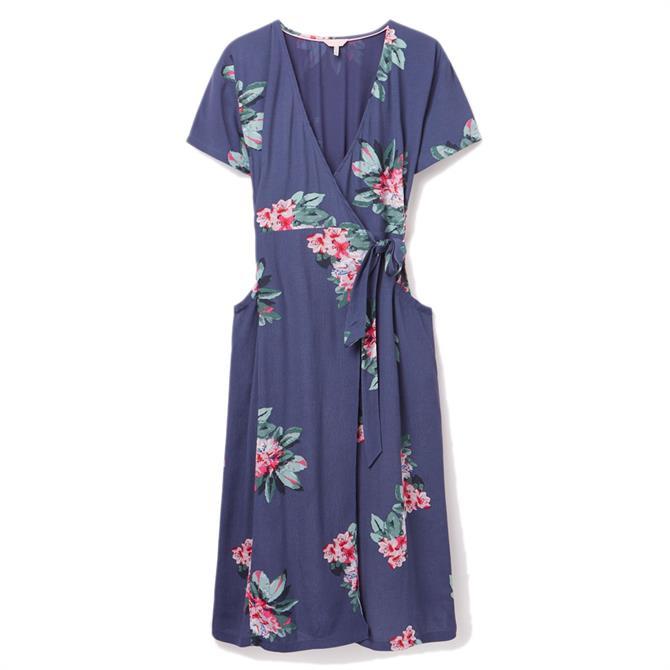 Joules Callie Floral Print Wrap Dress