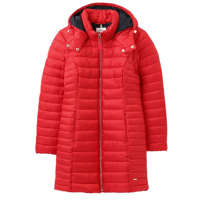 Joules Canterbury Long Jacket Red