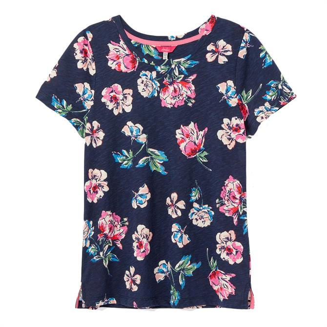 Joules Carley Print Classic Crew Neck T-Shirt