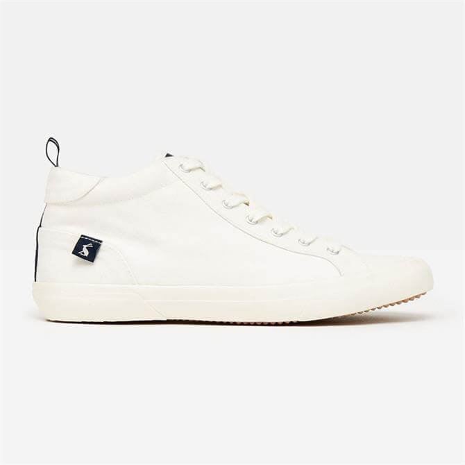 Joules Organic Coast Mid High Top Trainers