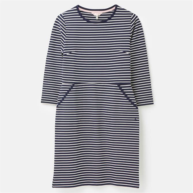 Joules Emilie 3/4 Sleeve Jersey Striped Dress