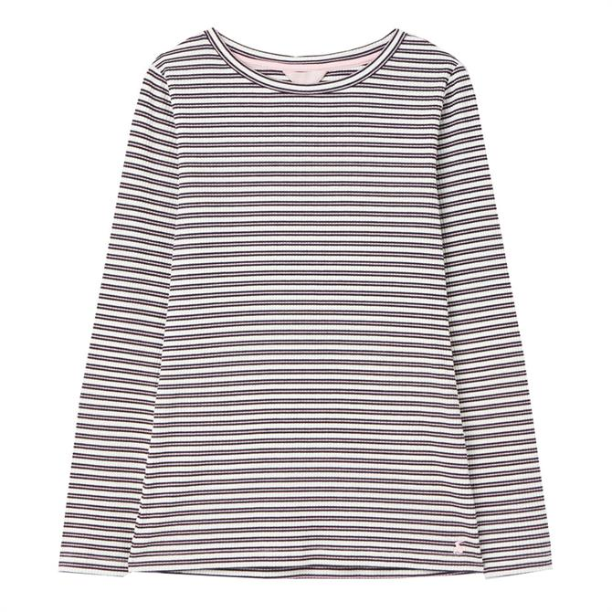 Joules Grace Skinny Rib Striped Jersey Top