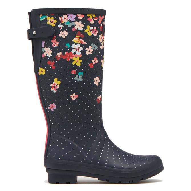 Joules Printed Wellies With Back Gusset