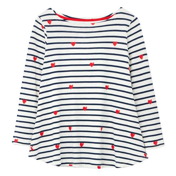 Joules Harbour Light Print Long Sleeve Jersey Top