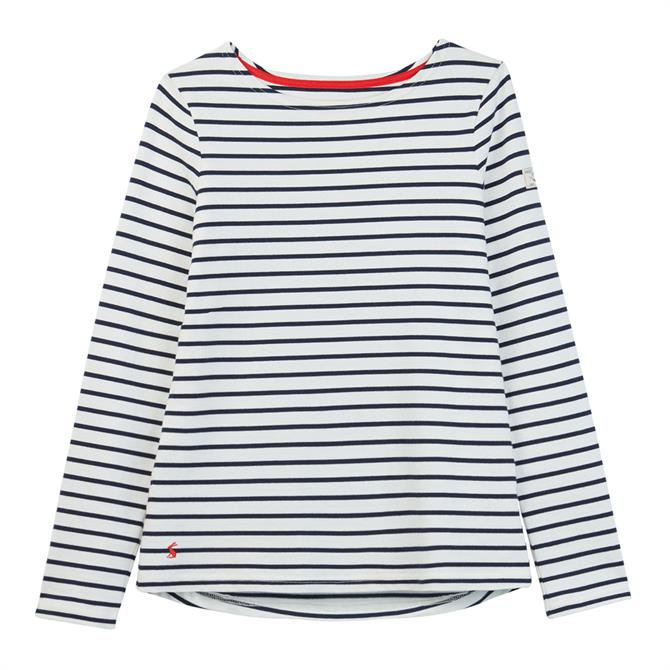 Joules Harbour Long Sleeve Jersey Striped Top SS20