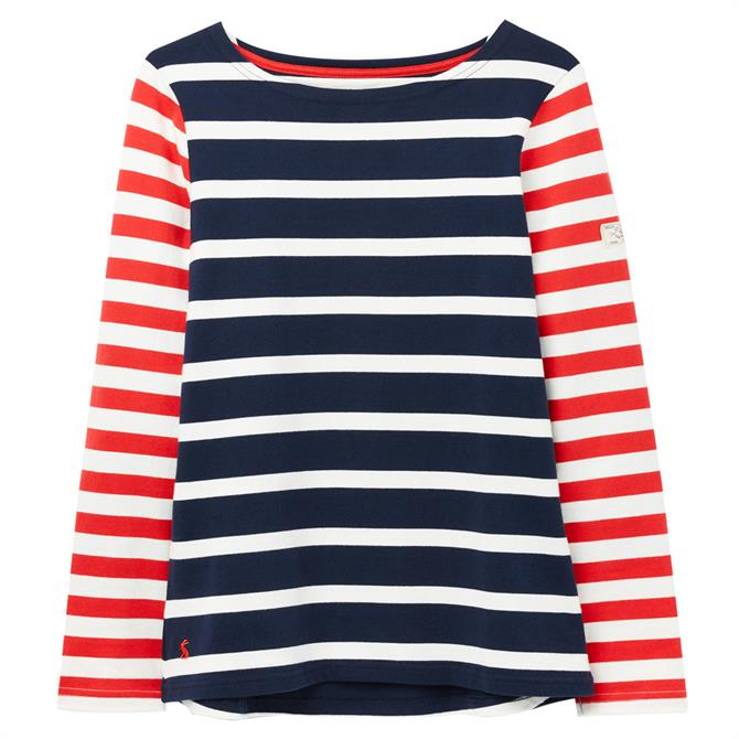 Joules Harbour Striped Long Sleeve Jersey Top