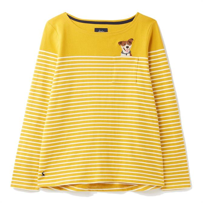 Joules Harbour Long Sleeve Jersey Embroidered Top