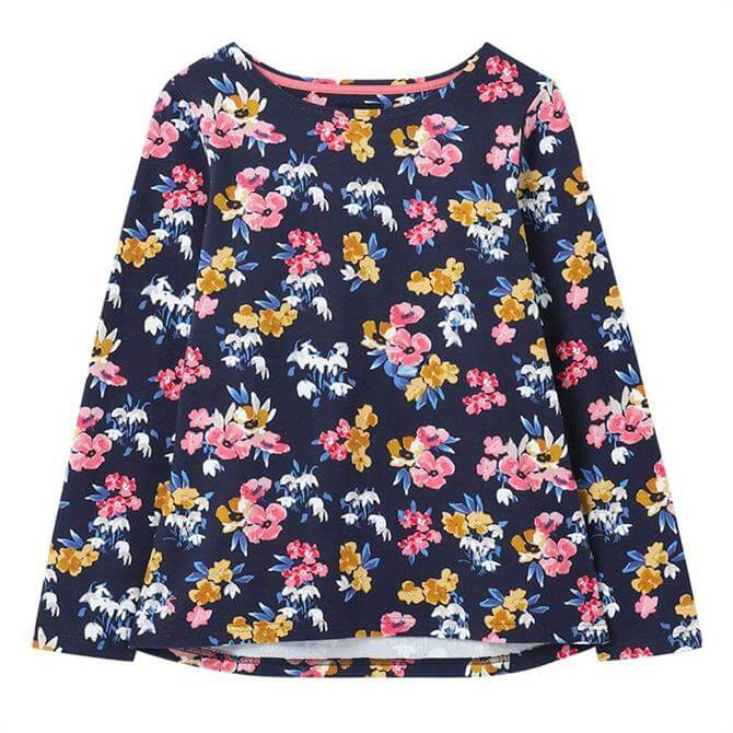 Joules Harbour Print Long Sleeved Cotton Jersey Top