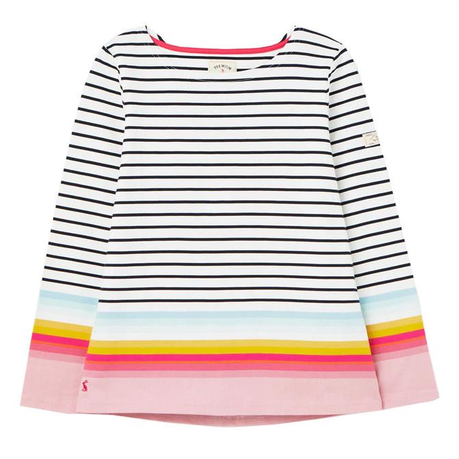 Joules Harbour Stripe Long Sleeved Jersey Top