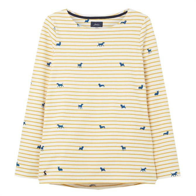 Joules Harbour Printed Long Sleeve Jersey Top