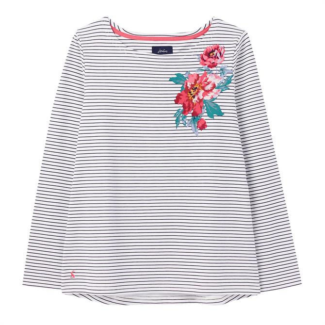 Joules Harbour Print Cotton Jersey Top SS21