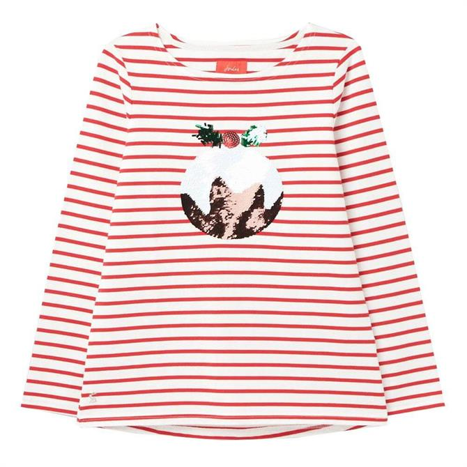 Joules Harbour Luxe Christmas Long Sleeve Jersey Top