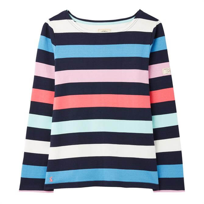 Joules Harbour Long Sleeved Striped Jersey Top SS21