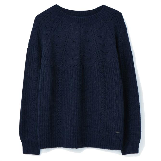 Joules Jenna Knitted Pointelle Stitch Jumper