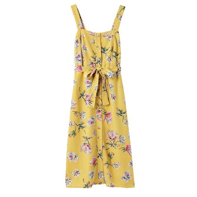 Joules Kimia Button Through Strap Dress