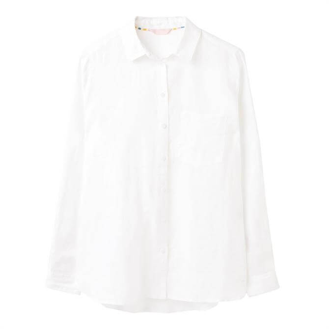 Joules Lorena Linen Longline Woven Shirt