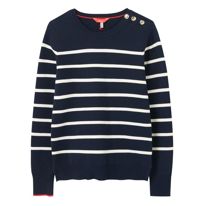 Joules Portlow Jumper With Button Shoulder Sweater
