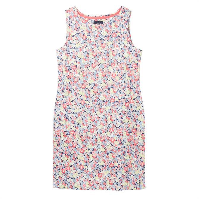 Joules Riva Sleeveless Jersey Ditsy Print Dress