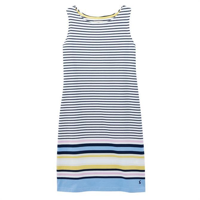 Joules Riva Sleeveless Striped Jersey Dress