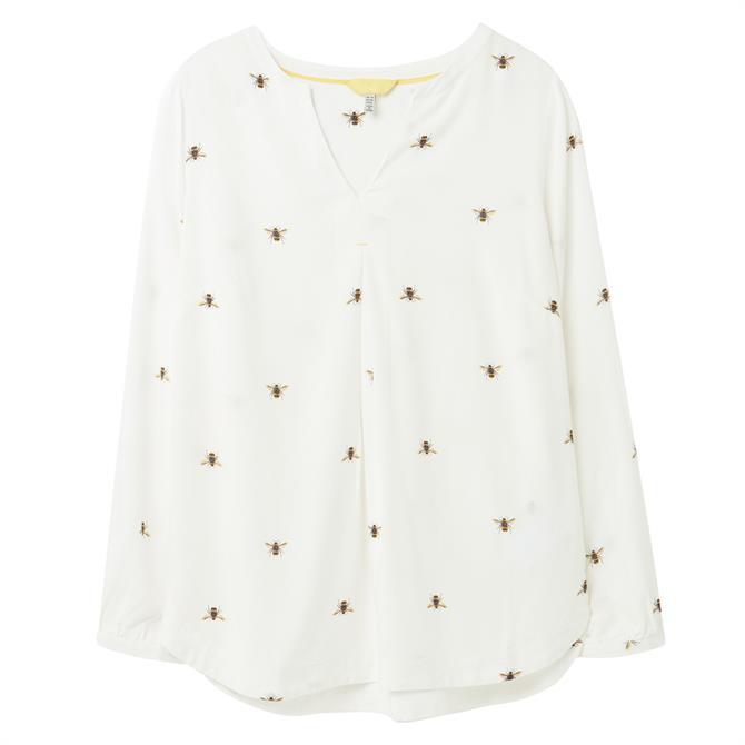 Joules Rosamund Lightweight Patterned V-Neck Shirt