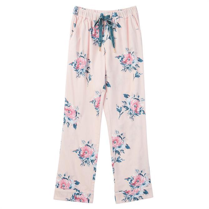 Joules Snooze Pink Floral Pyjama Bottoms