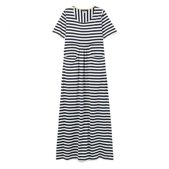 Joules Trudy Short Sleeved Striped Maxi Dress