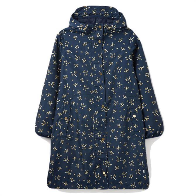 Joules Waybridge Printed Waterproof Packable Raincoat