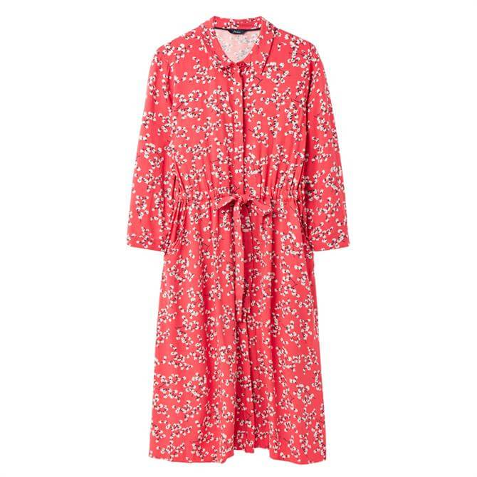 Joules Winslet Long Sleeve Button Front Shirt Dress