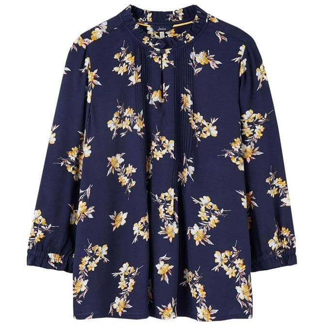 Joules Camila Pop Over Pleated Top