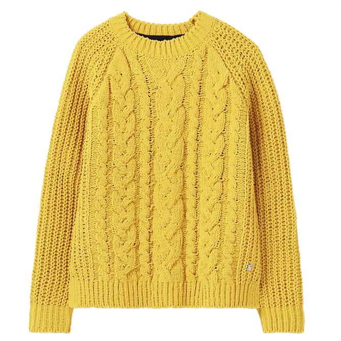 Joules Seaford Chenille Gold Cable Jumper