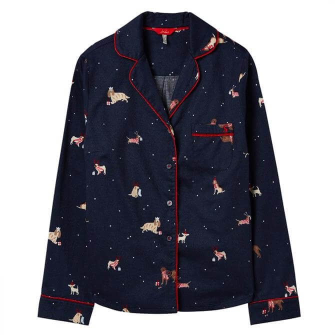 Joules Cait Button Through Long Sleeved Pyjama Top