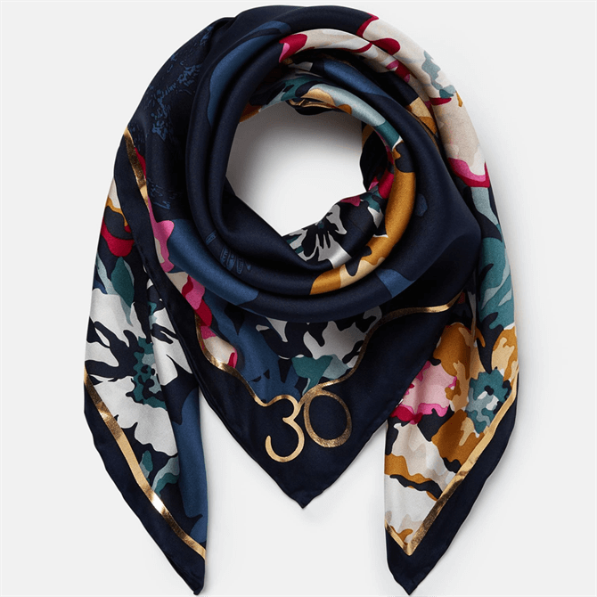 Joules Bloomfield Floral 30th Anniversary Silk Square Scarf