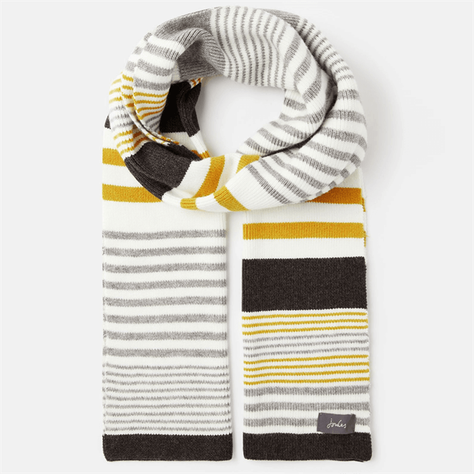 Joules Chillaway Knitted Striped Scarf