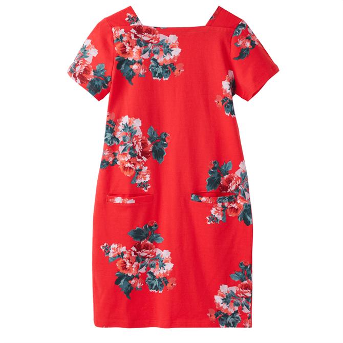 Joules Francis Print Square Neck Jersey Dress