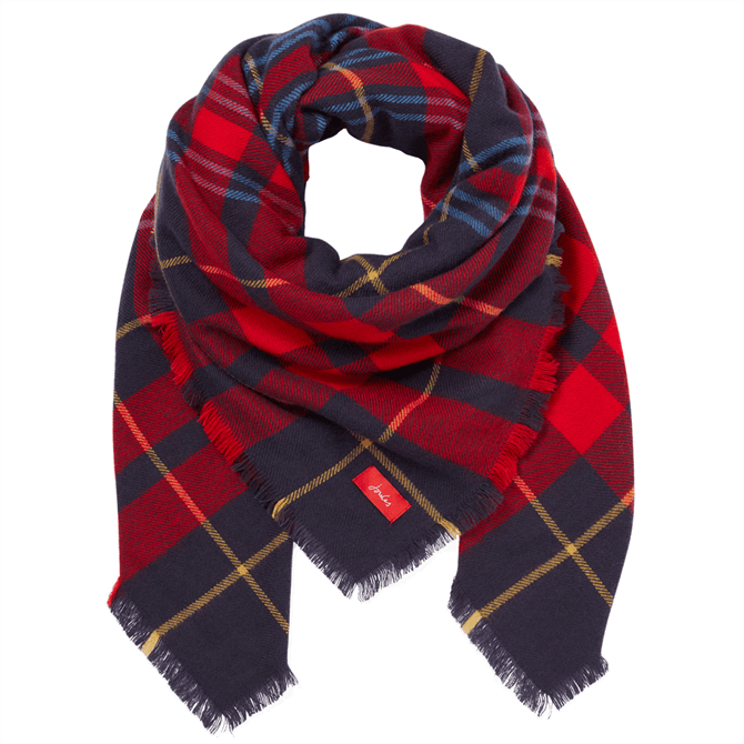 Joules Heyford Oversized Check Square Scarf