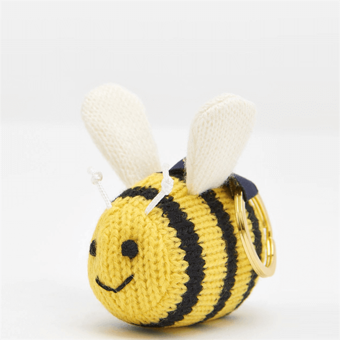 Joules Coxwold Knitted Bee Keyring
