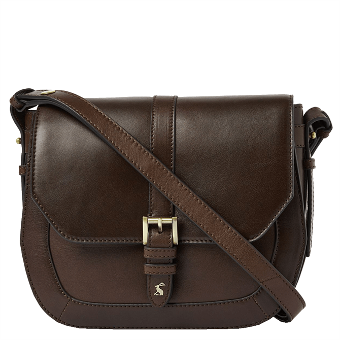 Joules Leather Cross Body Saddle Bag