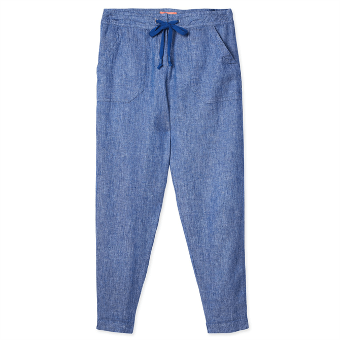 Joules Lindycrop Cropped Linen Trousers