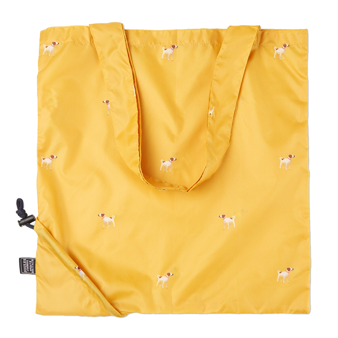 Joules Pacabag Pacaway Gold Dogs Bag
