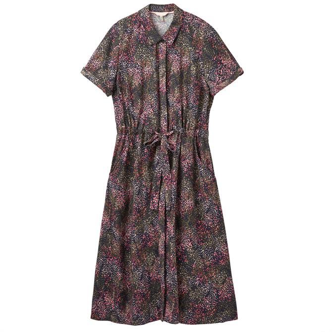 Joules Winslet Print Midi Shirt Dress