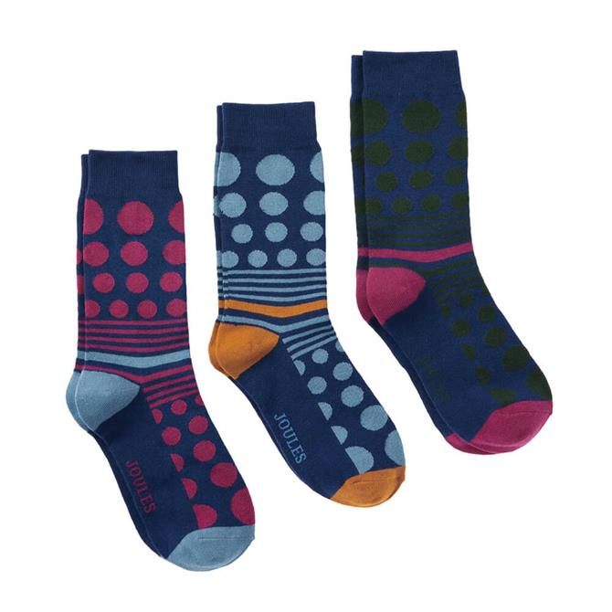 Joules Socks & Shares 3 Pack Socks Set